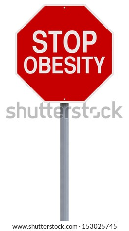 A modified stop sign on Obesity