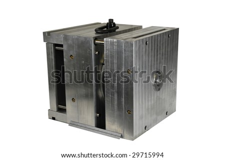 A mold (tooling) using in plastic injection to make a part or object. - stock photo