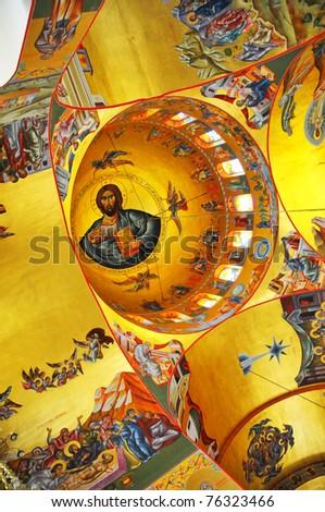A Monastery Agios Gerasimos - Kefalonie, Greece - stock photo