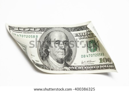a Money dollars on a white background