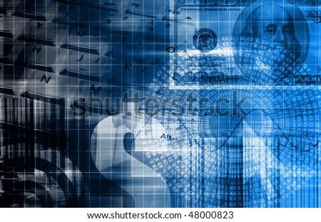 A Money Technology Business Background as Art - stock photo