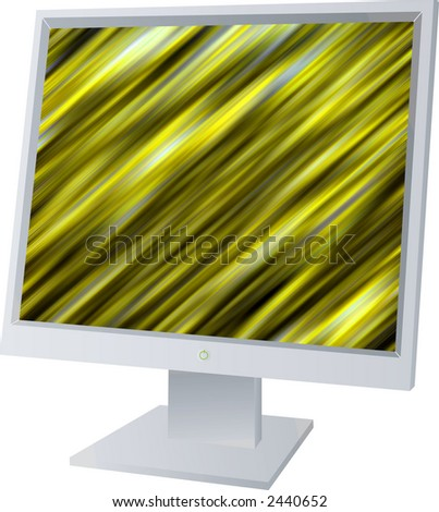 A monitor screen with a pattern drawn on it - stock photo