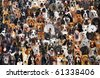 A montage of 120 different dog breeds, looking straightforward. - stock vector