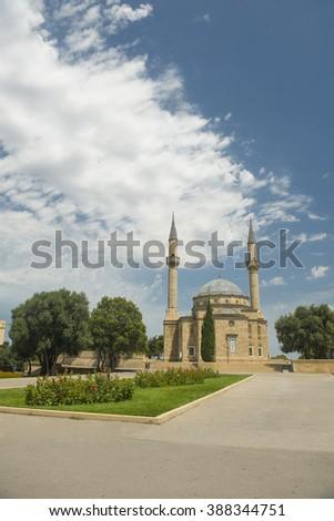 A mosque in Baku, Azerbaijan - stock photo