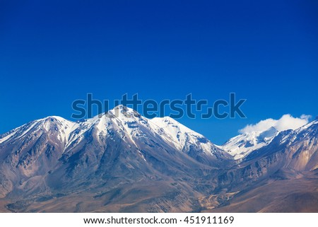 a mountain range covered with snow