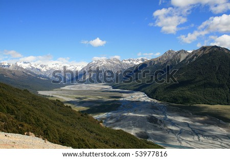 A Mountain View - stock photo