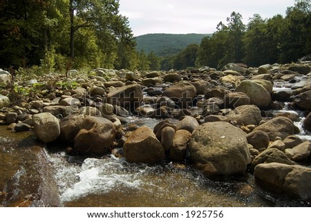 A mountainous stream - stock photo
