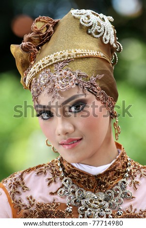 A muslim woman with Hijjab - stock photo