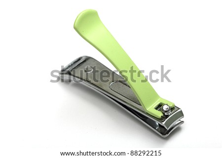 a nail clippers  on white background - stock photo