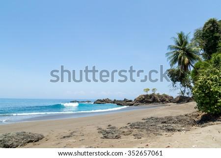 a natural beach in Costa Rica - stock photo