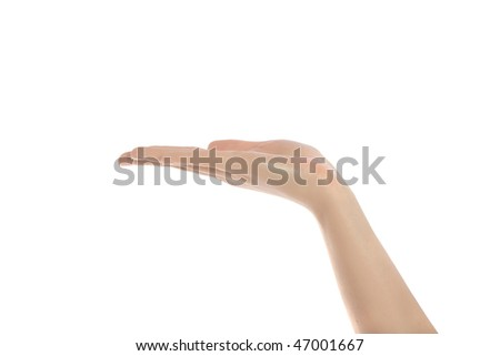 A neat human hand. All isolated on white background.