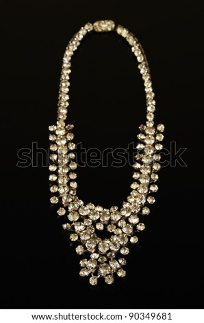 A necklace with diamonds - stock photo