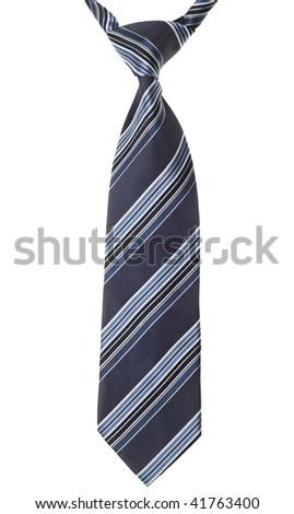 a necktie on white background - stock photo