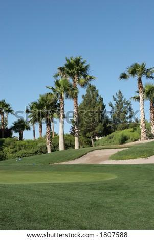 A neighborhood golf course in Las Vegas - stock photo