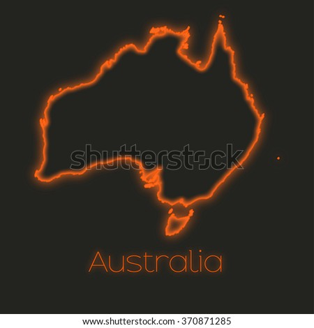 A Neon outline of Australia
