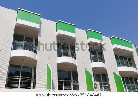 A new apartment building in city. - stock photo