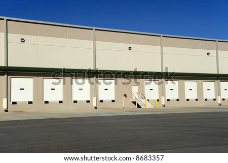 A new commercial warehouse for lease - stock photo