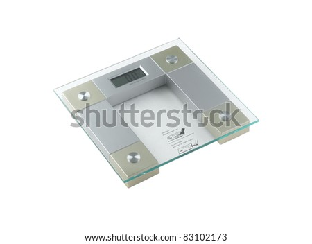 A new design digital weight scales - stock photo
