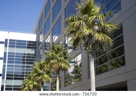 A new metal and glass biotech building in San Francisco's new Mission Bay development. - stock photo