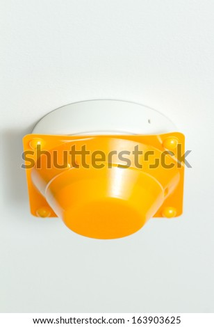 A New of Smoke alarm with cover - stock photo
