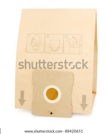 a new paper dust bag for vacuum cleaners