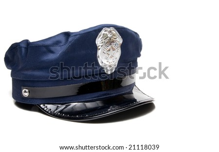 A New York City police officer's hat. - stock photo