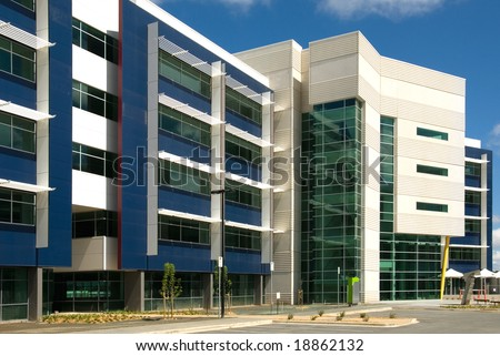A newly constructed office building in Canberra, Australia