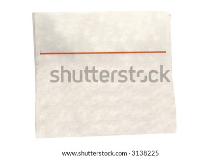 A newspaper isolated on white ready to put your text - stock photo