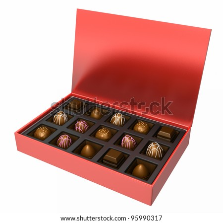 A nice assortment of milk and dark chocolate candies