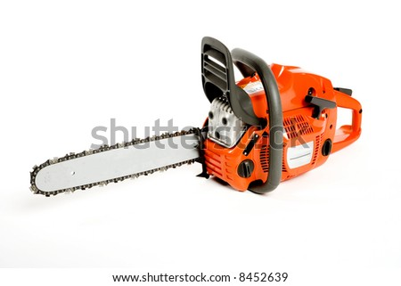 a nice chainsaw for heavy wood cutting - stock photo