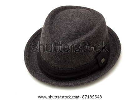 A nice classic hat made of fiber - stock photo