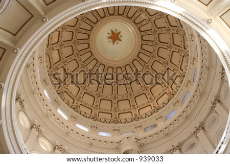 A nice clean shot of the Texas State Capitol Building in downtown Austin, Texas. - stock photo