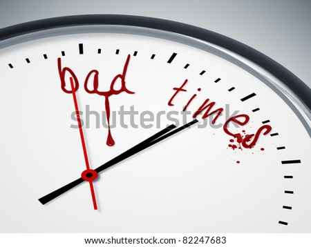 a nice clock with bad times and blood