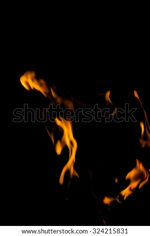 A nice fire in a fire place - stock photo