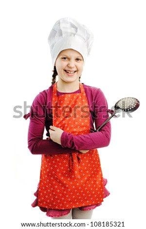 A nice girl with skimmer in her hands - stock photo