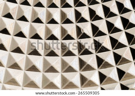 A nice pattern with many small pyramids. - stock photo