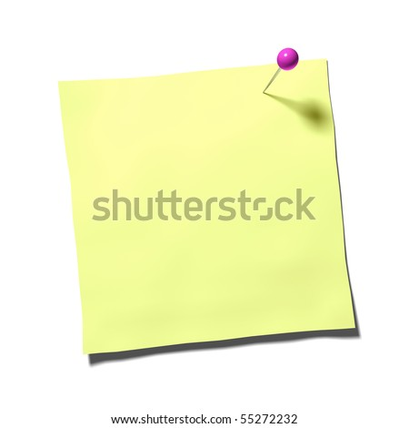 a nice post with a pin - stock photo