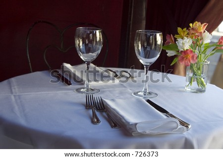 A nice semi-formal table setting.