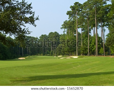A nice Summer view of this Myrtle Beach golf course in South Carolina. - stock photo