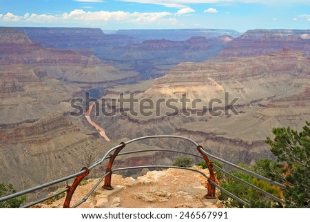 A Nice Viewpoint at the South Rim of Grand Canyon National Park, USA