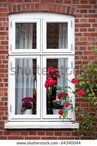 A nice window close-up in Ribe, Denmark