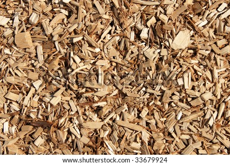 A nice wood chips mulch texture background.