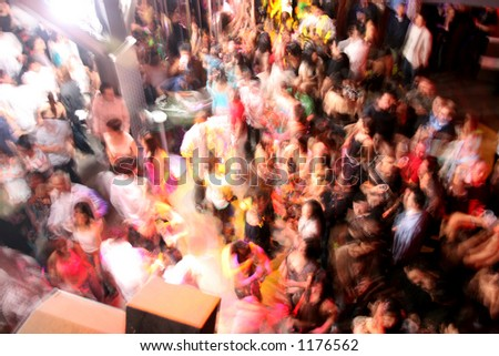 A night club crowd. - stock photo