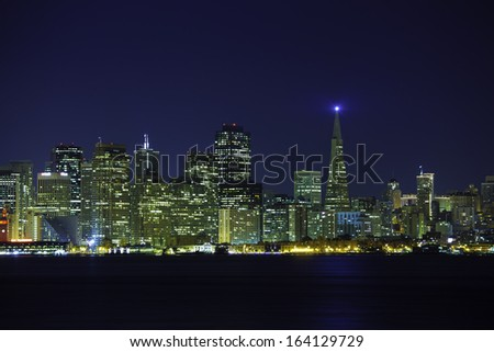 A night view of downtown San Francisco