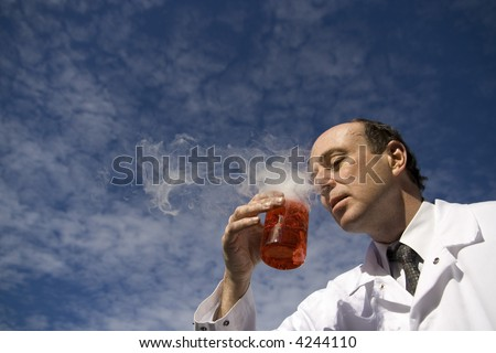 A nose for discovery - stock photo