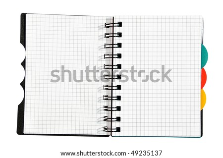 A notebook for records is isolated on a white background - stock photo