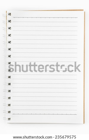 a notebooks on white background - stock photo