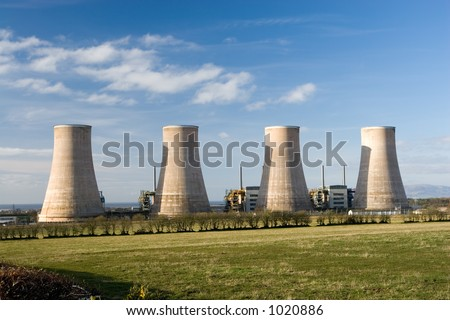 A now redundant nuclear power station - stock photo