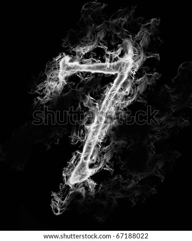 A number of smoke alphabet