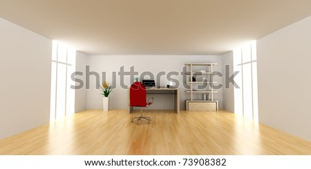 A office workplace. 3D rendered Illustration. - stock photo